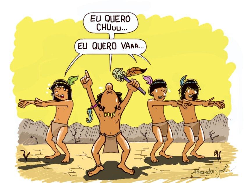 Charge sobre a longa estiagem em Goiânia - 2012. Mais de 26 mil compartilhamentos no Facebook.