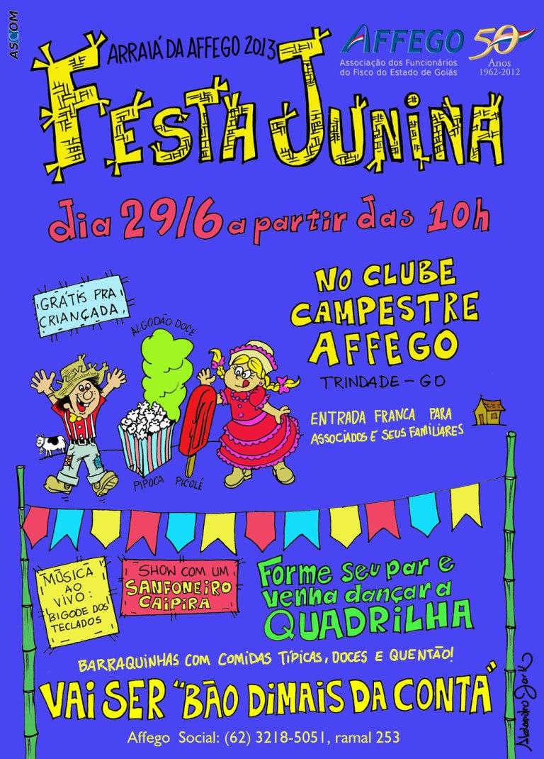 Cartaz - festa junina da Affego