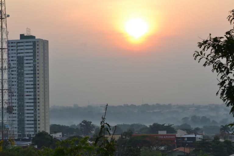 Foto tirada do mirante do Serrinha às 7h30 da manhã.