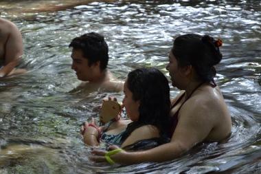 Irmãos e sobrinhos no Rio Quente GO